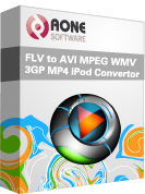 Aone FLV Converter Suite - Rip DVD to FLV, Convert AVI MPEG to FLV ...